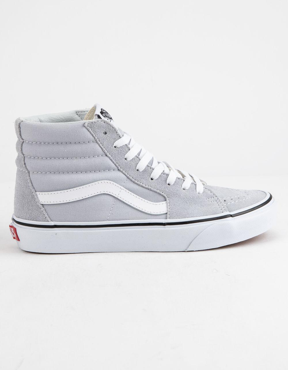 Lyst - Vans Sk8-hi Gray Dawn   True White Womens Shoes in White ff50deb4e