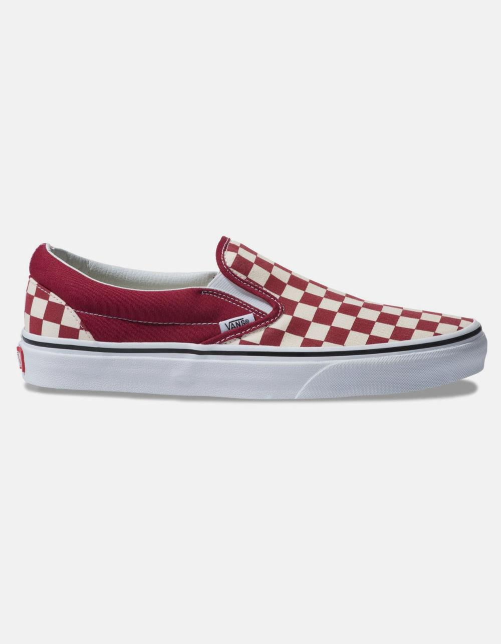 312d755ddf Lyst - Vans Checkerboard Classic Slip-on Rumba Red   True White ...