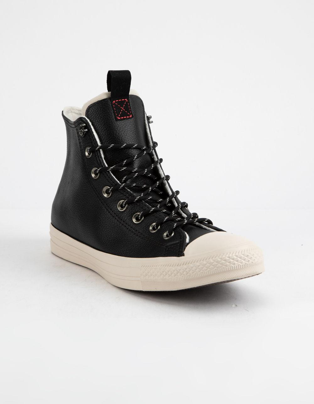 0aa04555c57a8 Converse Chuck Taylor All Star Leather Black   Driftwood High Top Shoes in  Black for Men - Lyst