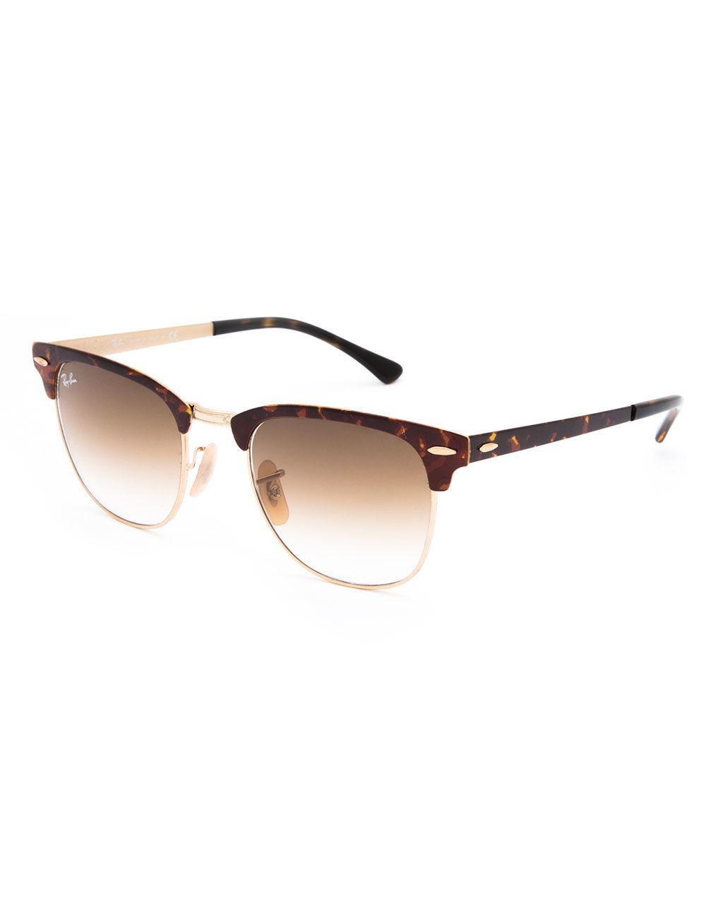 8086ba94ba2 Ray-Ban. Women s Clubmaster Metal Tortoise   Light Brown Gradient Sunglasses
