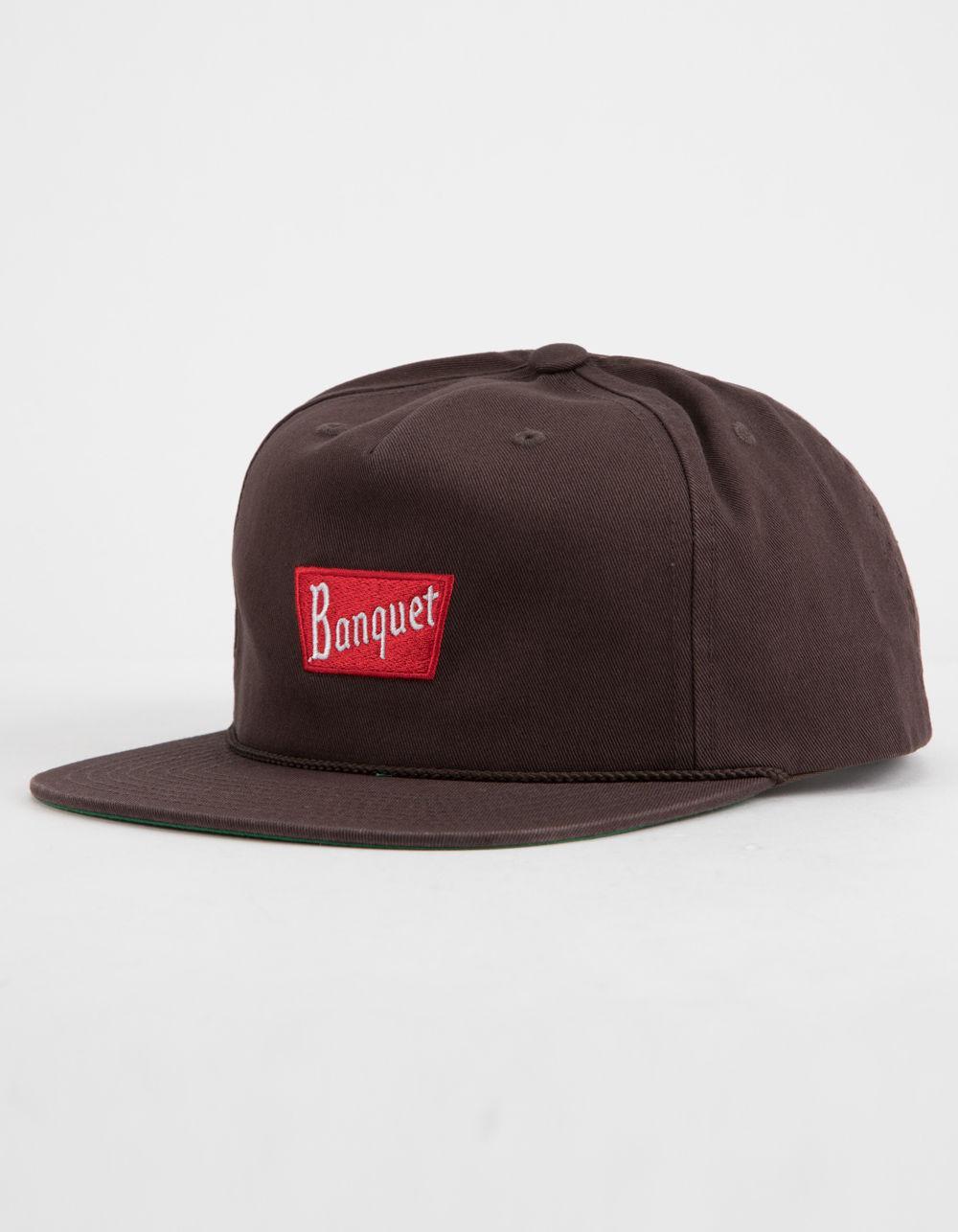 1a23f91b33ca54 ... sweden lyst brixton x coors banquet brown mens snapback hat in brown  for men 1e5e2 16e7e