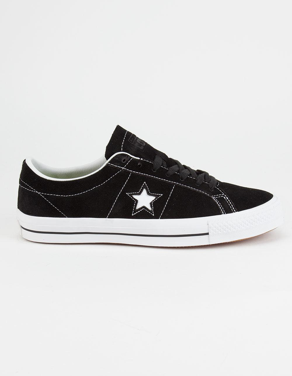 Converse. Black Cons One Star Pro Mens Shoes