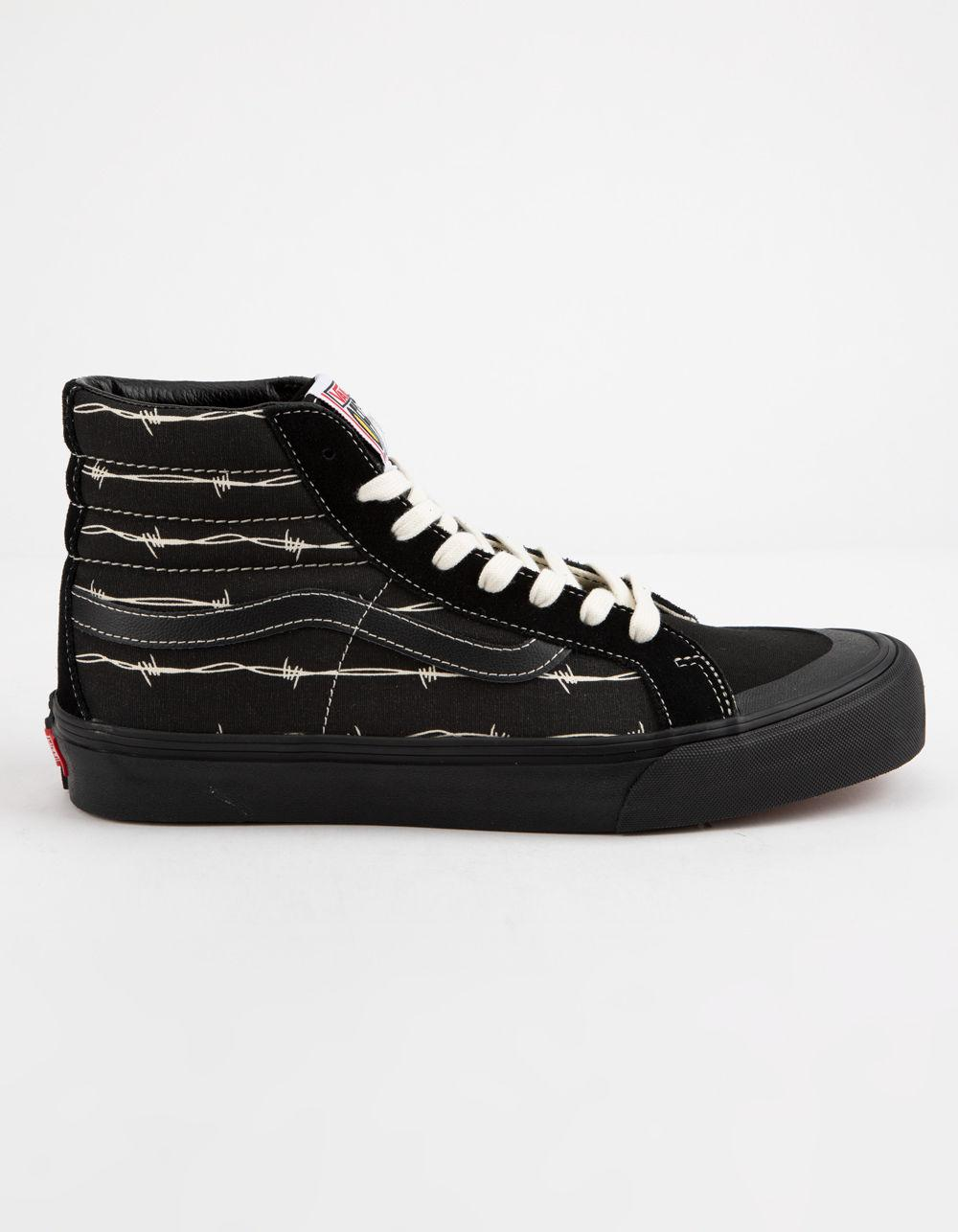 Lyst - Vans Sk8-hi 138 Sf Barbed Wire Sneaker in Black for Men ... 3e2a41967