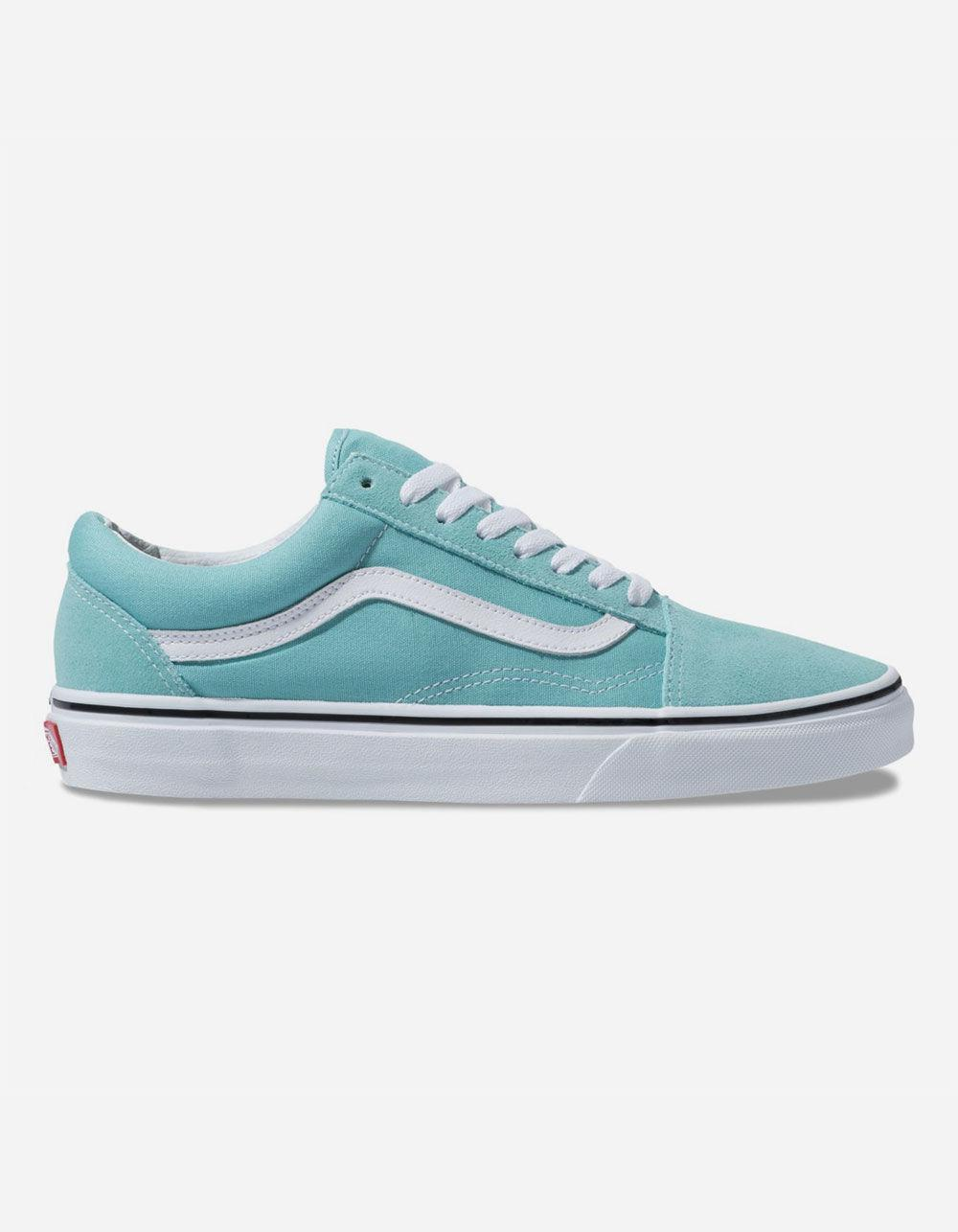 b0e72c2f07 Vans. Women s Old Skool Aqua Haze   True White Shoes