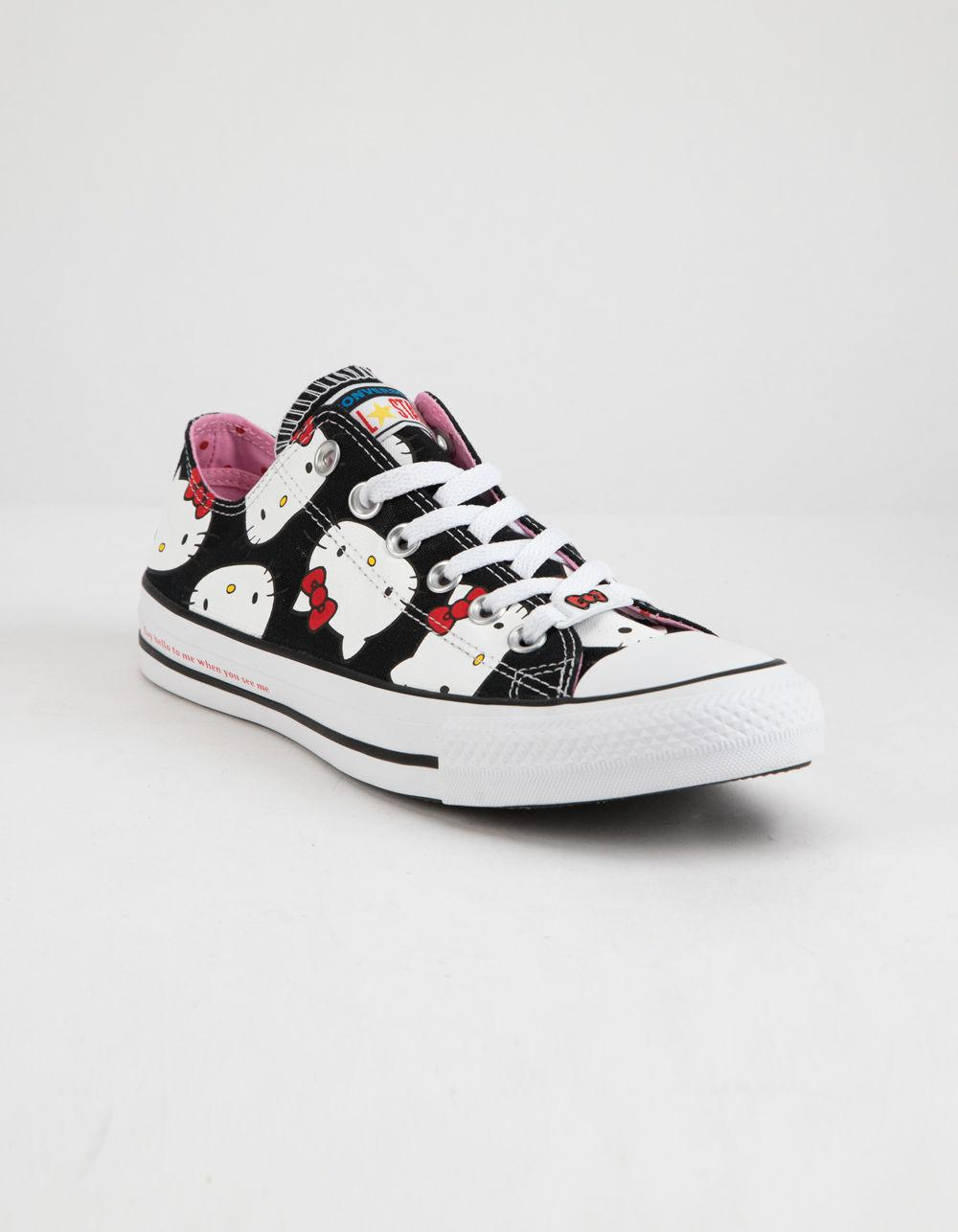 6c4eb76aac Lyst - Converse X Hello Kitty Chuck Taylor All Star Black   Prism ...