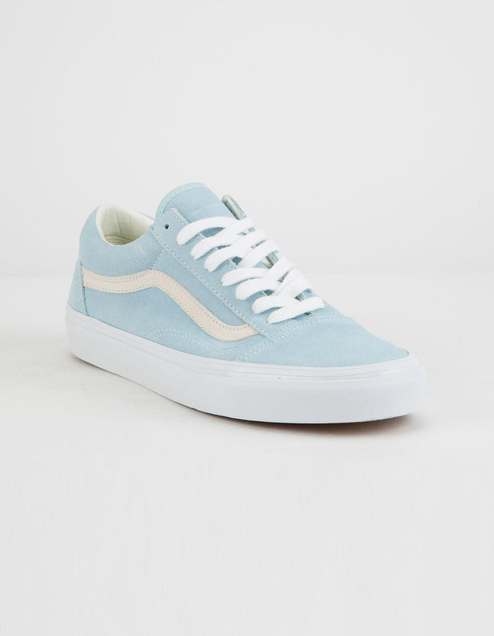 1e3ef67d4a Lyst - Vans Pastel Suede Old Skool Crystal Blue Womens Shoes in Blue