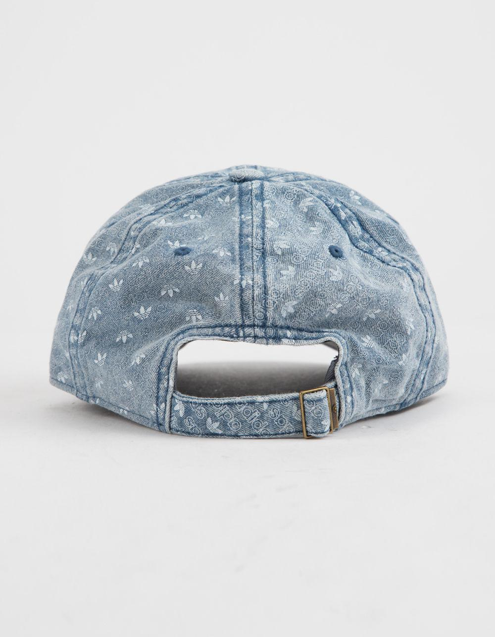 012ee723ecd Lyst - adidas Originals Monogram Denim Mens Strapback Hat in Blue for Men