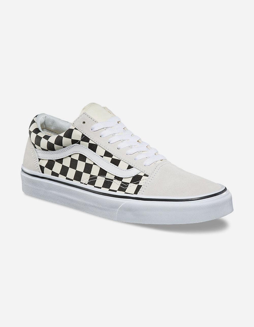 547079b738 Lyst - Vans Checkerboard Old Skool White   Black Shoes in White