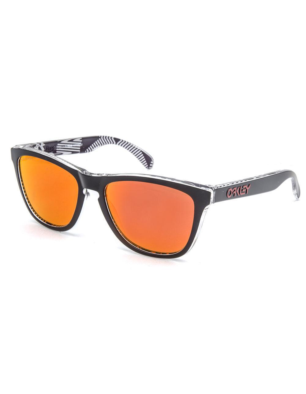 6b655ec591 Oakley. Men s Frogskins Urban Commuter Tokyo Black   Prizm Ruby Sunglasses