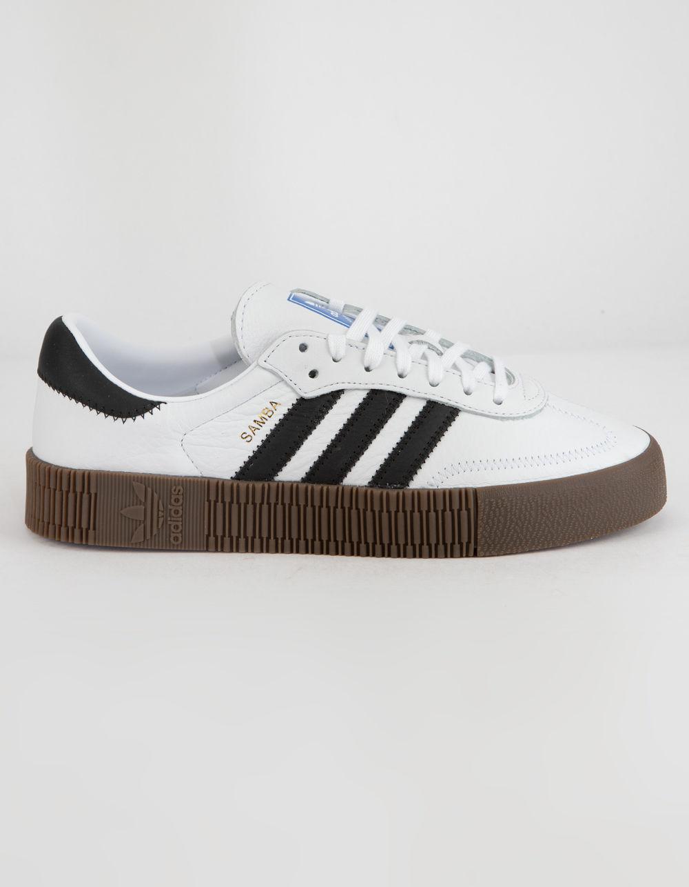 Lyst - adidas Sambarose White   Gum Womens Shoes in White b44561106
