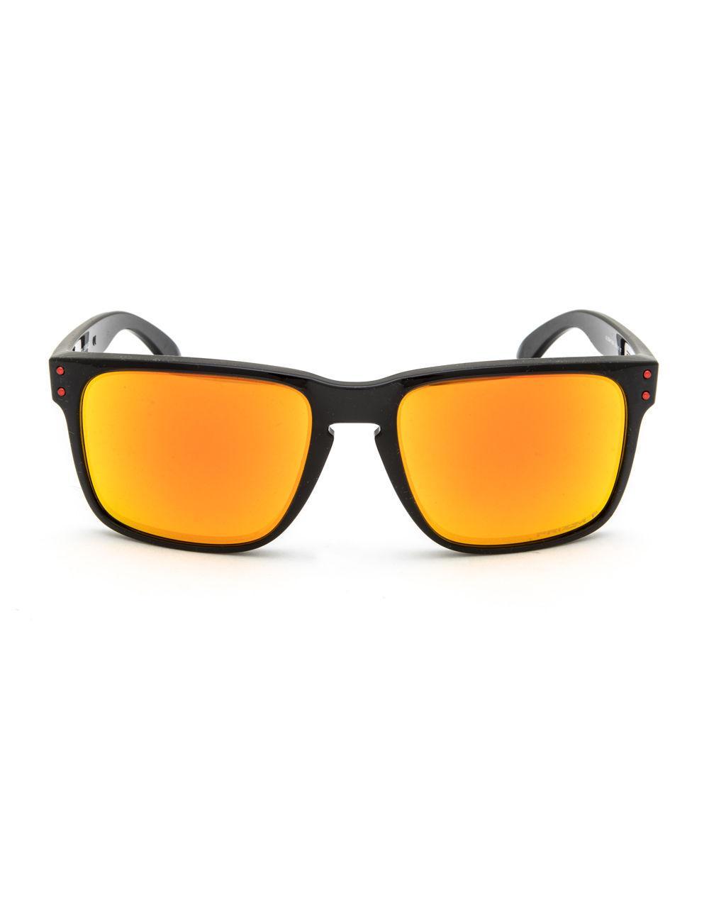 8c1831239b Lyst - Oakley Holbrook Xl Black   Red Sunglasses in Black for Men