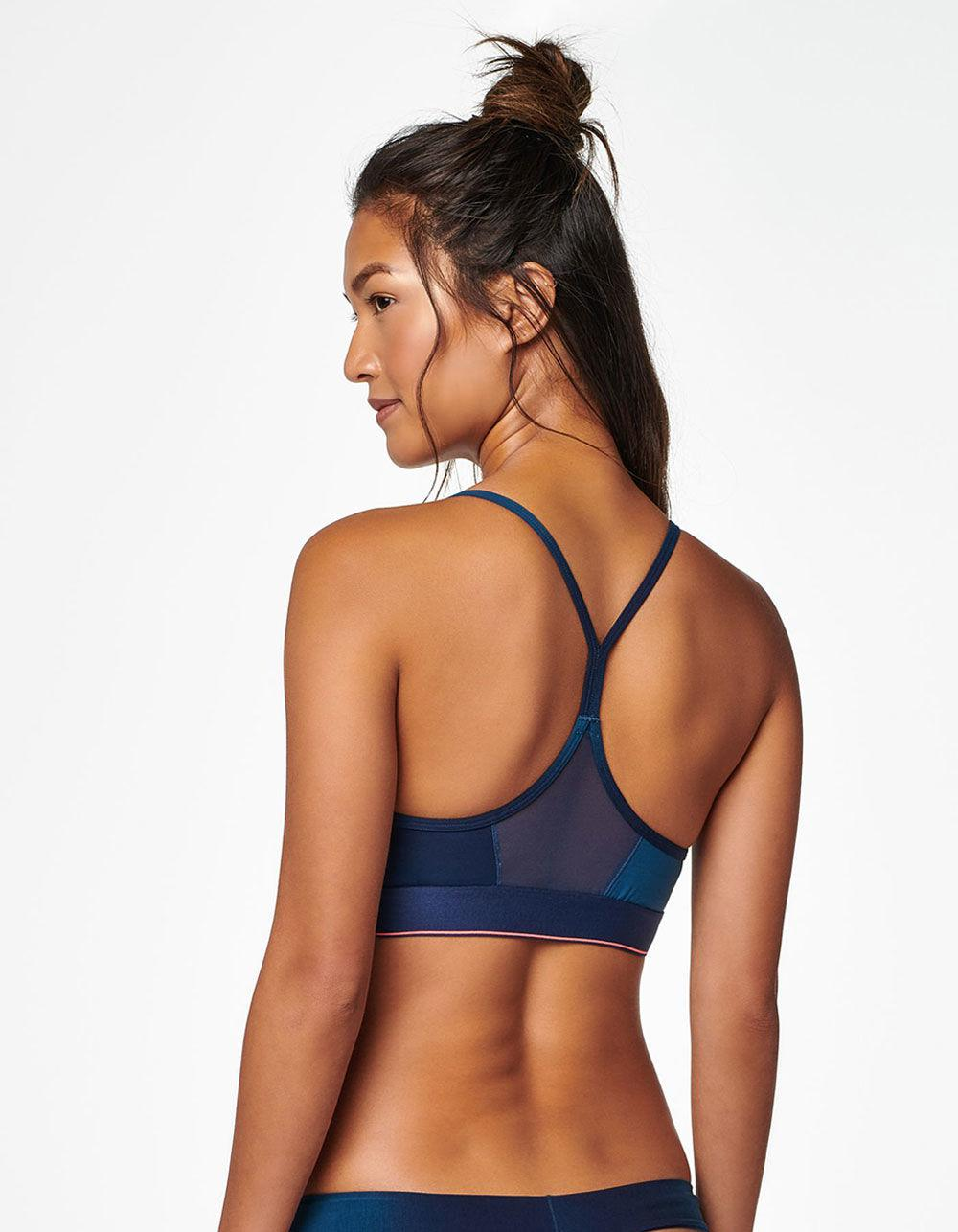 a49db3b228 Lyst - Stance Tomboy Cotton Bralette in Blue