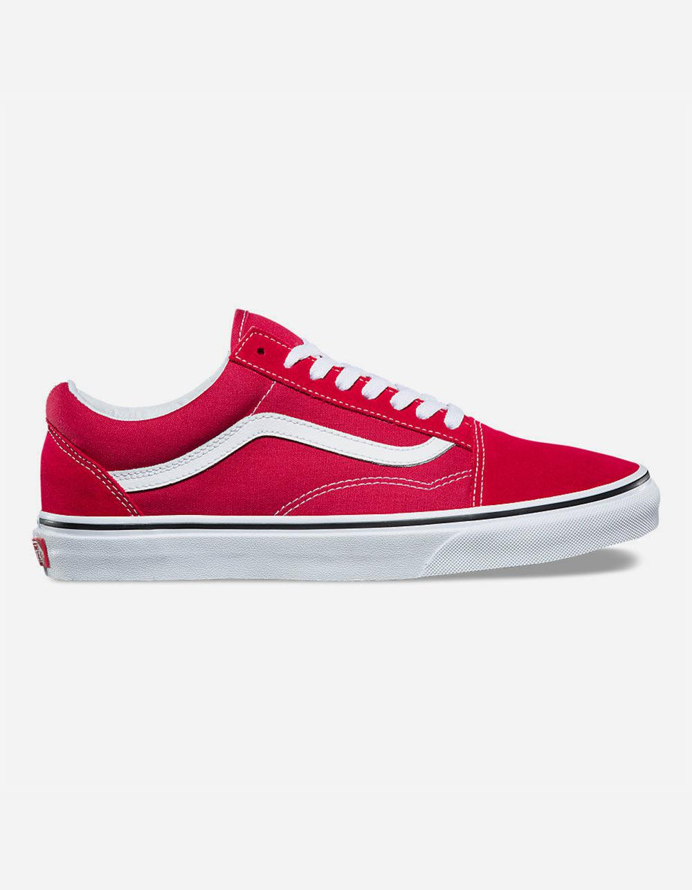 e6405b86254 Lyst - Vans Old Skool Crimson   True White Shoes in Red for Men