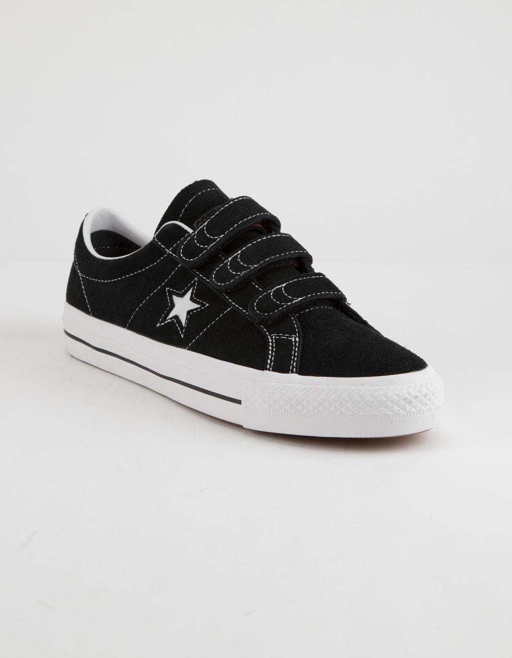 456cbf72ef7281 Lyst - Converse One Star Pro 3v Ox Black   White Shoes in Black for Men
