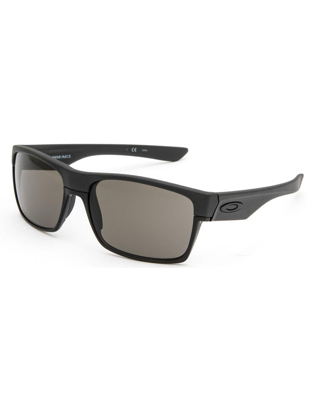 f0ad9c9d0a Lyst - Oakley Twoface Steel   Prizm Gray Sunglasses in Black for Men