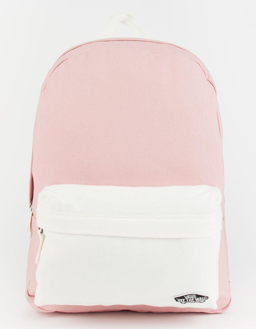 1ac29222b2b Lyst - Vans 2 Tone Realm Backpack in Pink