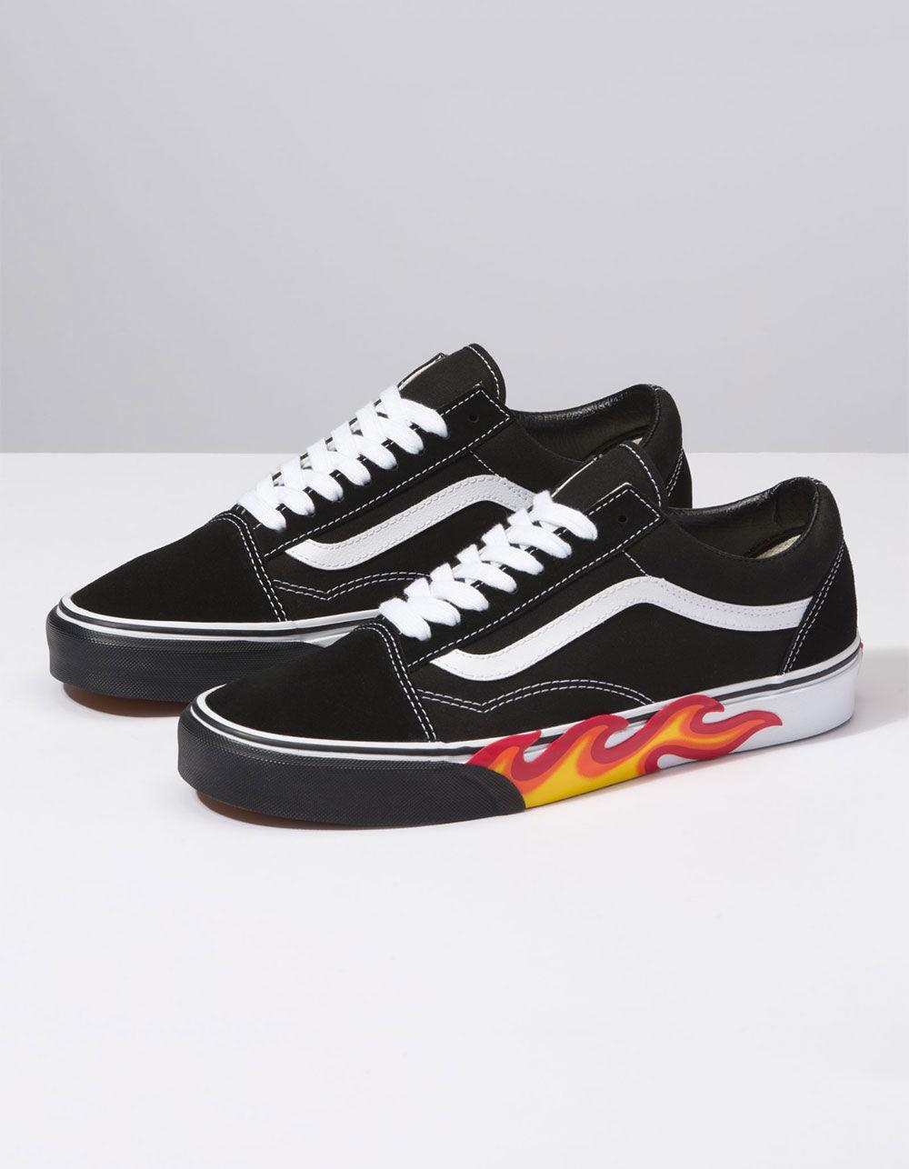 Lyst - Vans Flame Cut Out Old Skool Shoes in Black for Men 40c0aa687