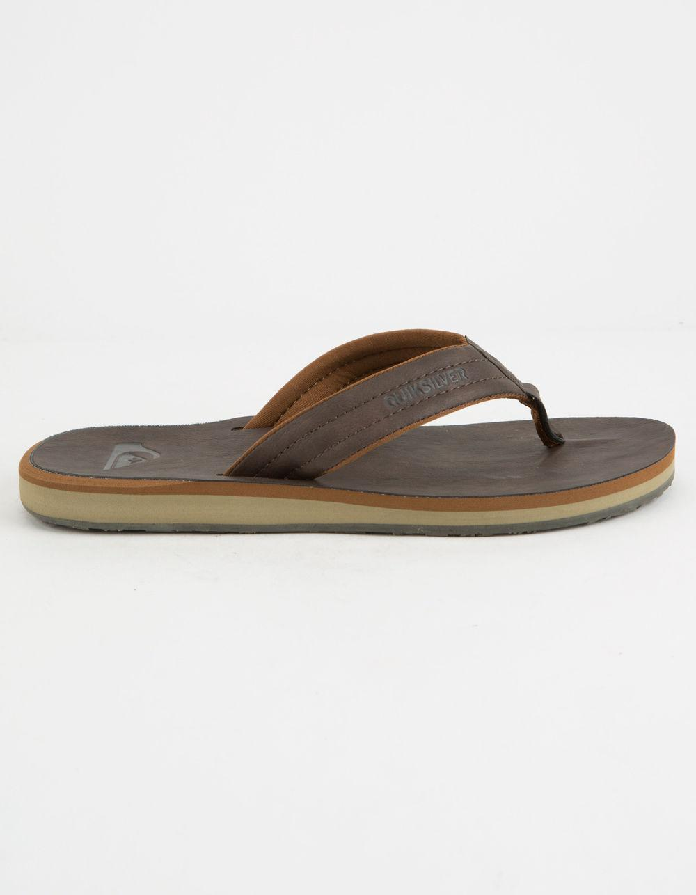 510ad4673a8f Lyst - Quiksilver Carver Nubuck Mens Sandals in Brown for Men