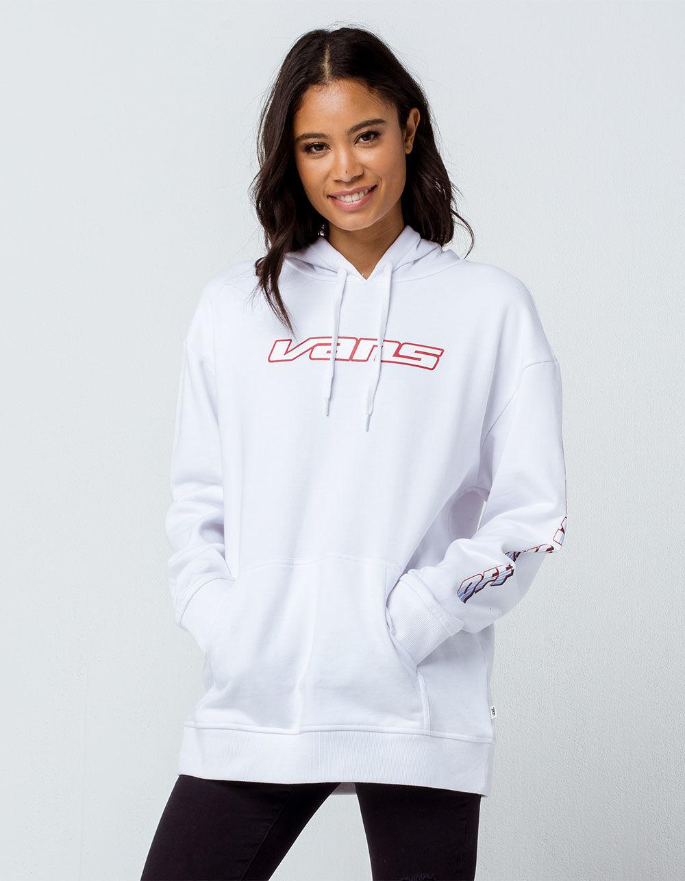 13daa84705 Lyst - Vans Pilot White Womens Oversized Hoodie in White - Save 55%