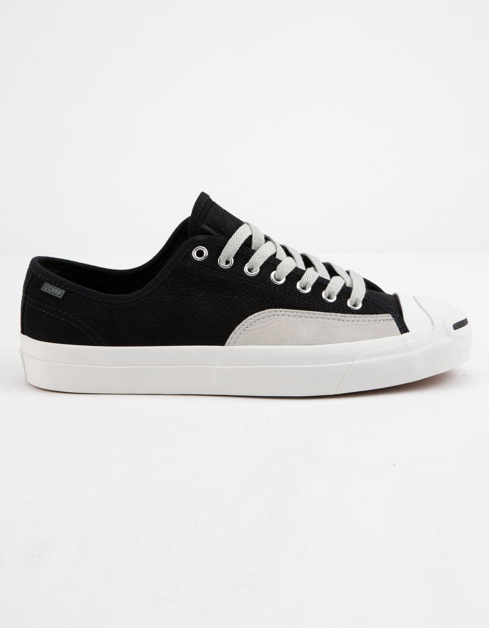 Lyst - Converse Jack Purcell Pro Leather Low Top Shoes in Black 883a60f4e