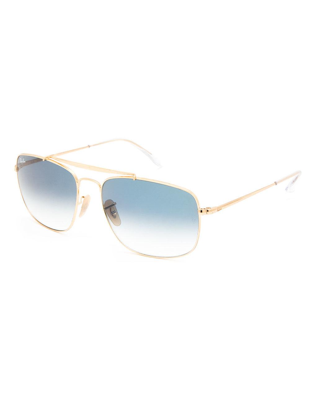 800d69100d5 Lyst - Ray-Ban Colonel Gold   Light Blue Gradient Sunglasses in Blue ...