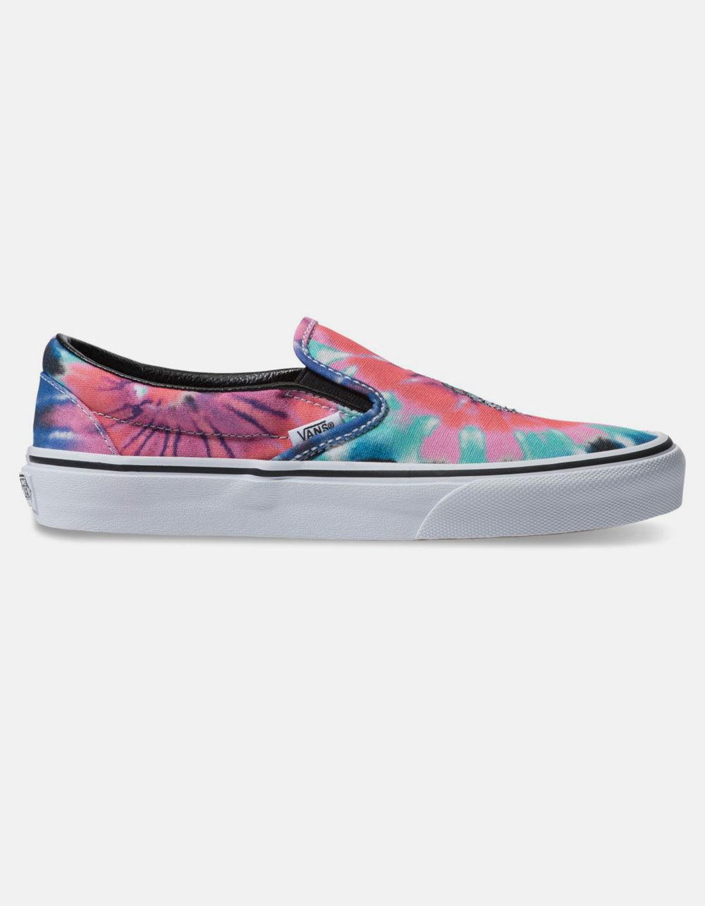 98a3f0118d Lyst - Vans Tie Dye Classic Slip-on Womens Shoes
