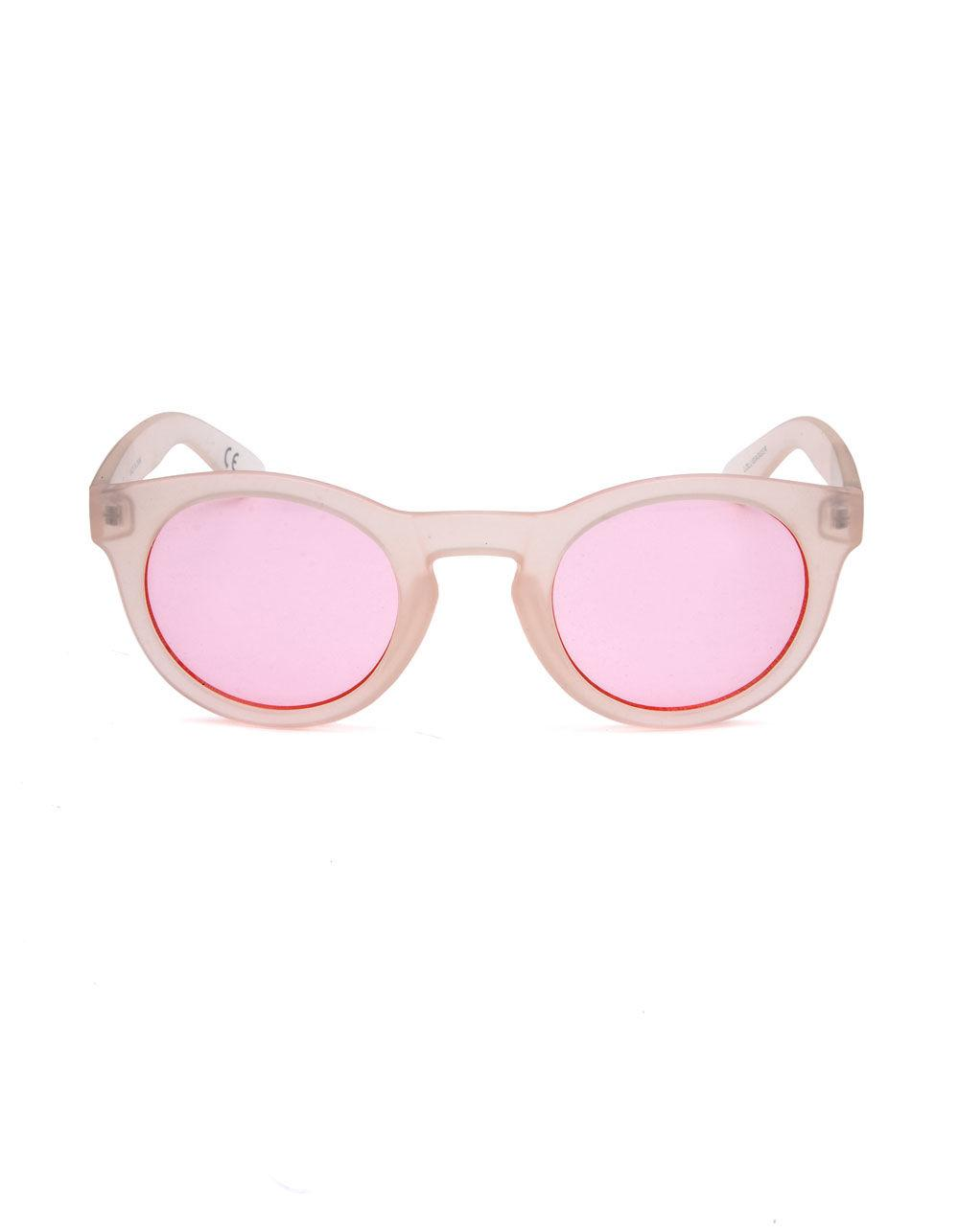 e133ae7e69c558 Lyst - Vans Lolligagger Frosted Translucent Sunglasses in Pink