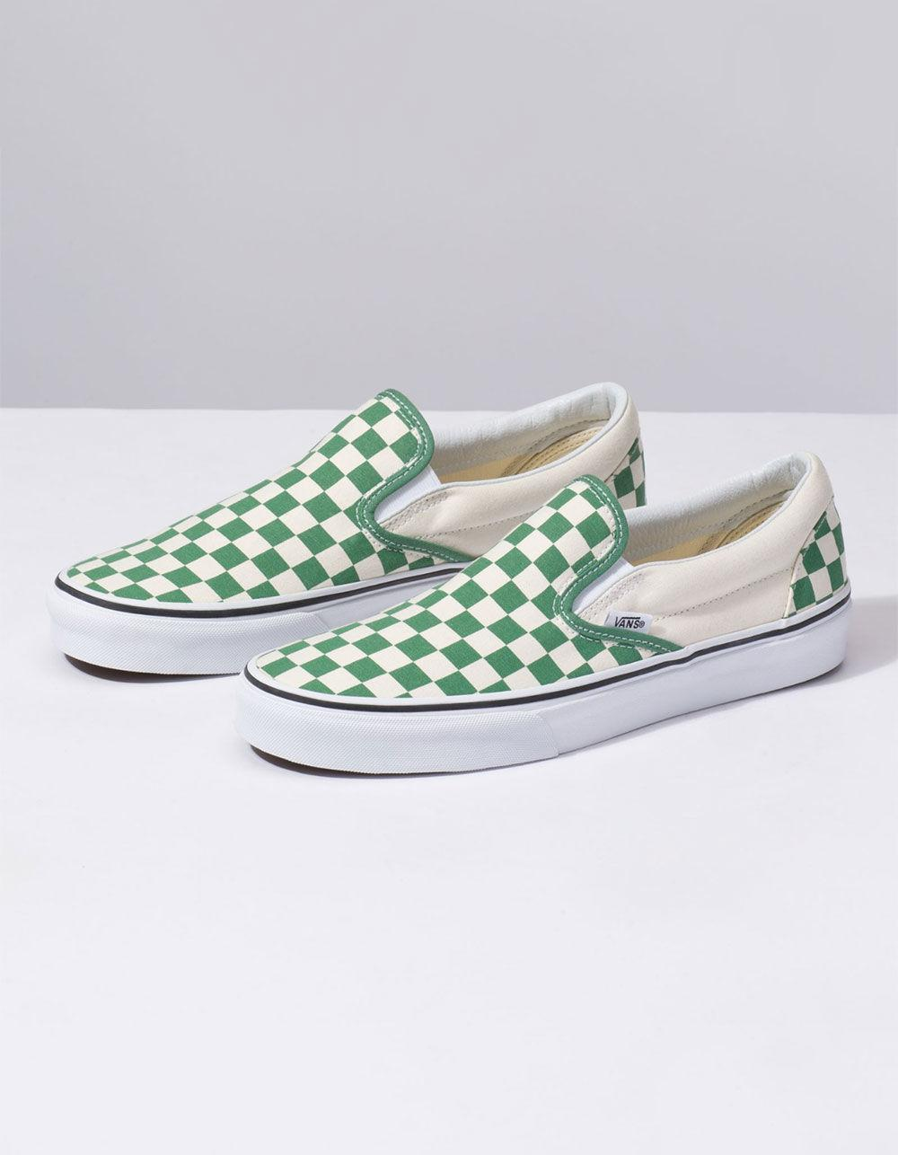 5368c2f835314d Lyst - Vans Classic Slip-on Deep Grass Green Shoes in Green for Men ...