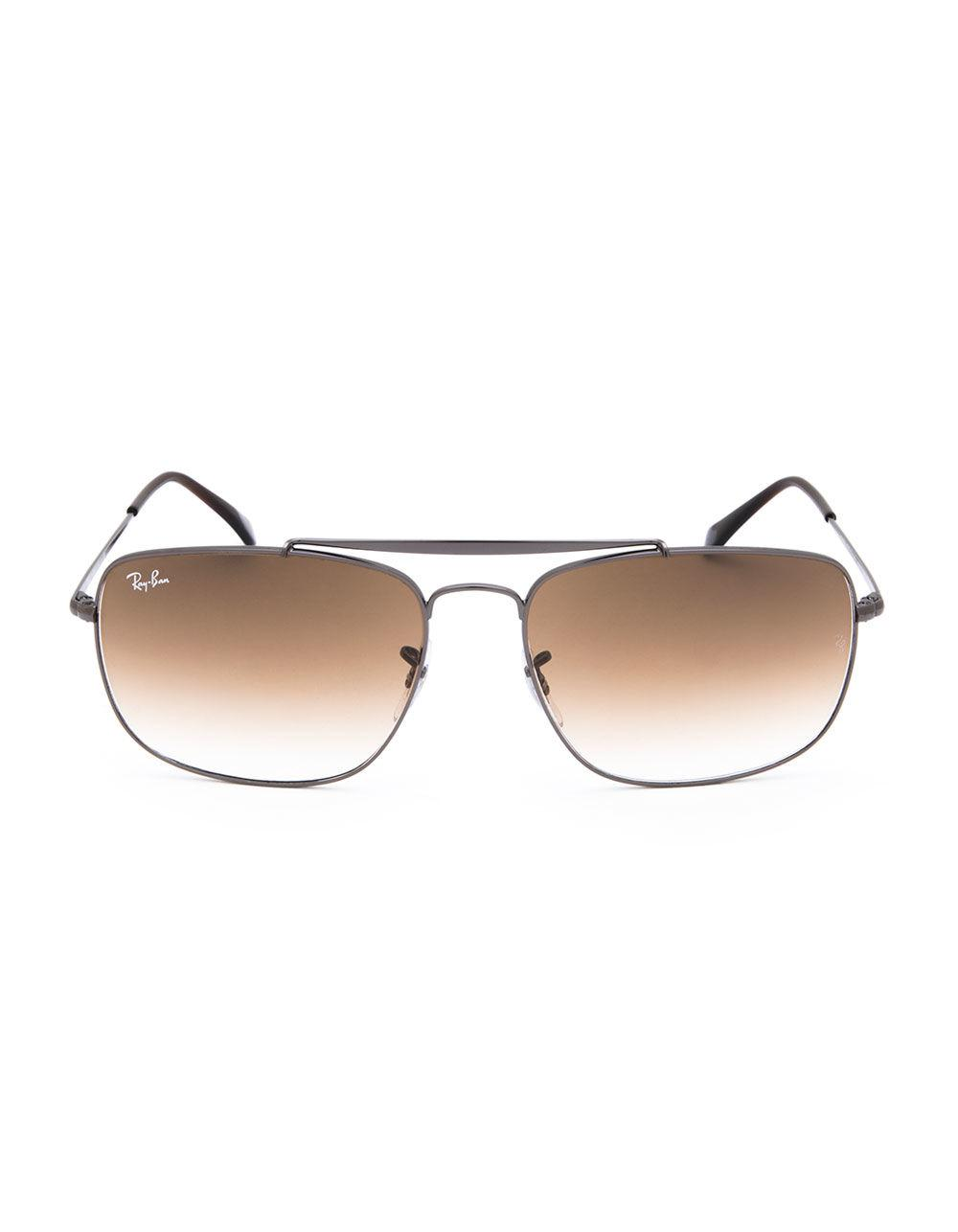 ac66845984f Lyst - Ray-Ban Colonel Gunmetal   Light Brown Gradient Sunglasses in Brown  for Men