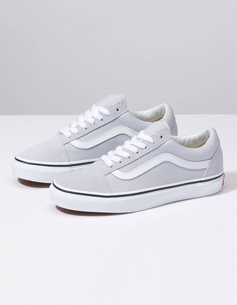 Lyst - Vans Old Skool Gray Dawn   True White Womens Shoes in White 5c47908a5