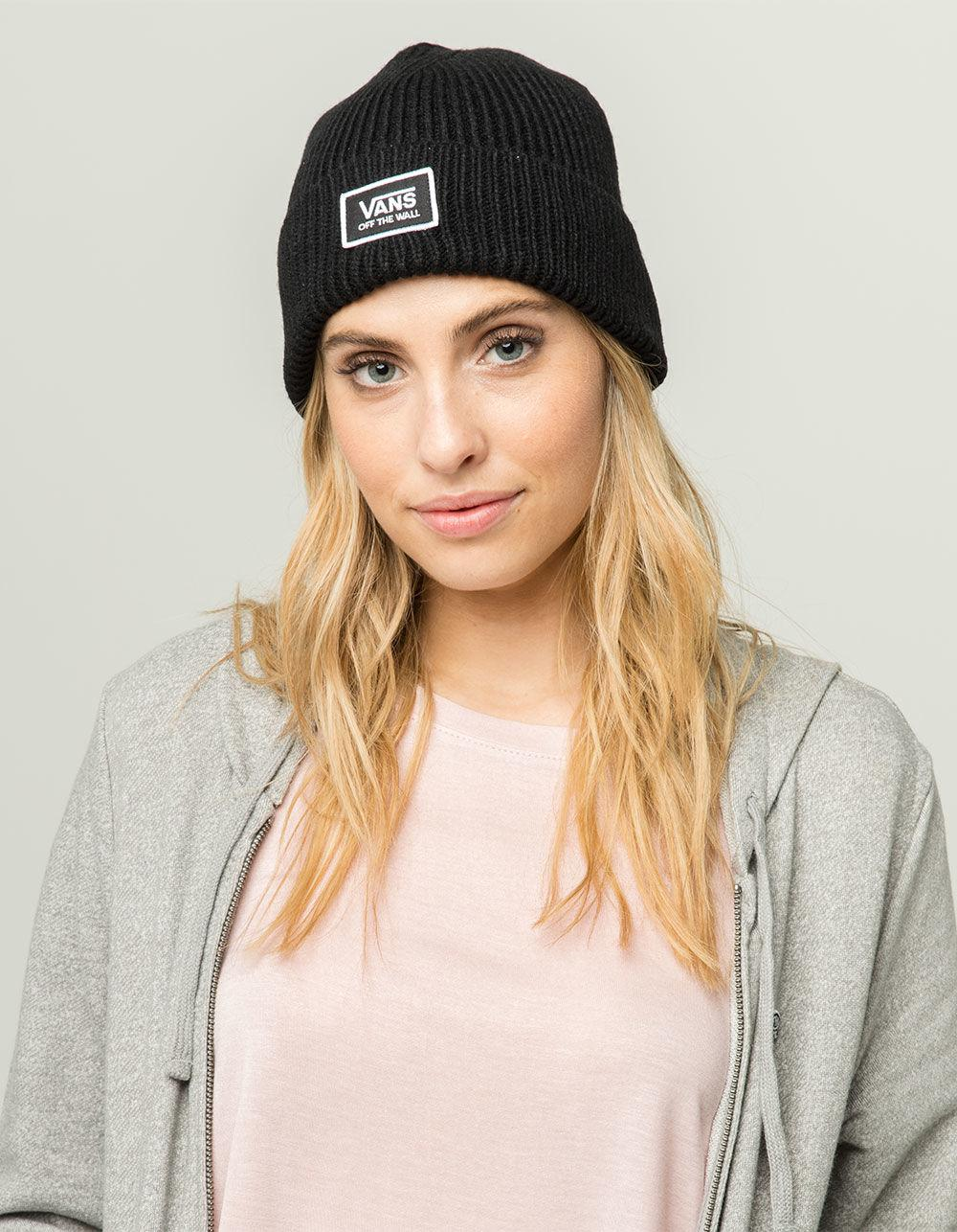 ca4c740f466 Lyst - Vans Falcon Womens Beanie in Black
