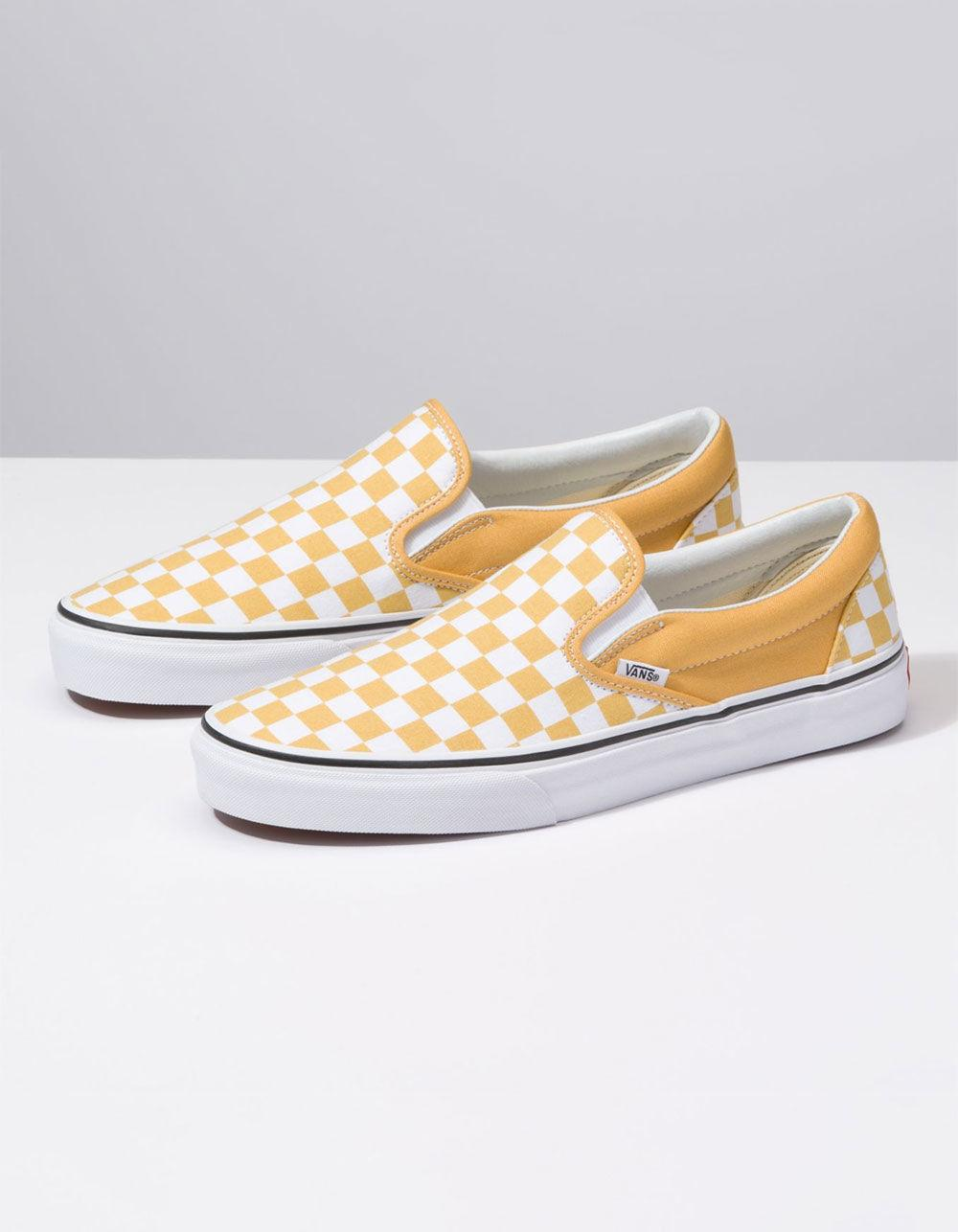5efbb51ad0 Lyst - Vans Checkerboard Classic Slip-on Ochre   True White Shoes in White