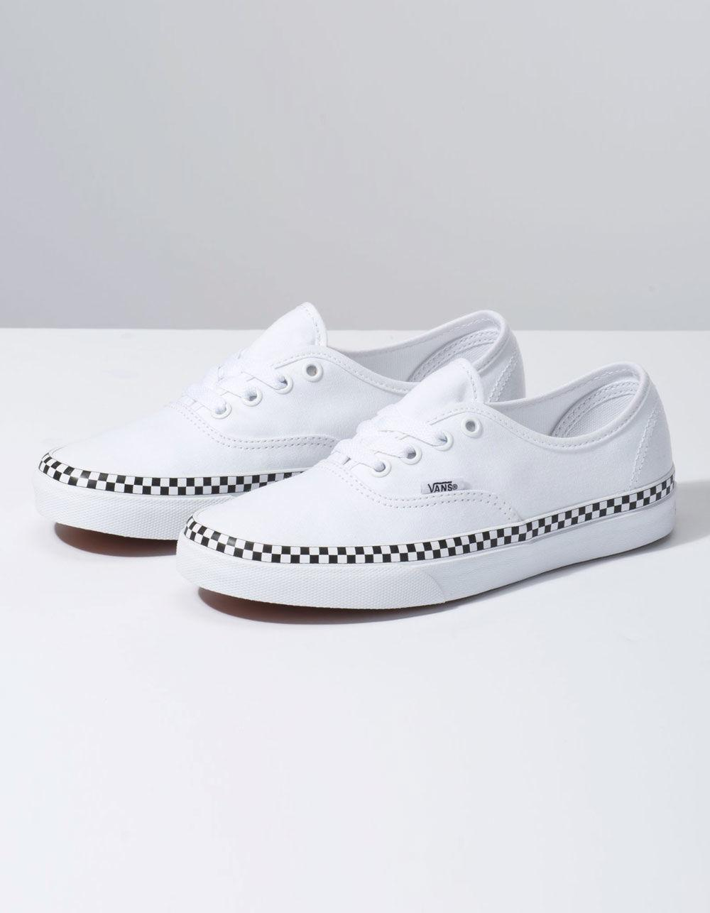 0b9c1f27000 Lyst - Vans Check Foxing Authentic True White Womens Shoes in White