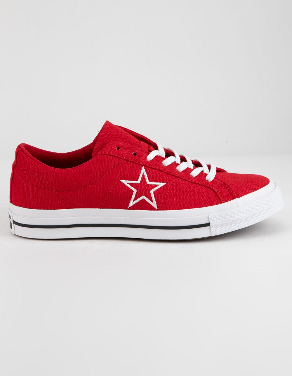 e78f1c27344 Lyst - Converse One Star Ox Enamel Red   White Low Top Shoes in Red