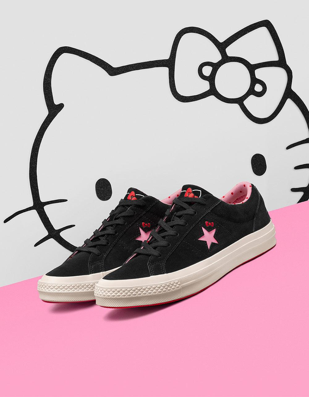 c5aea6cd51330d Converse - X Hello Kitty One Star Black   Prism Pink Womens Shoes - Lyst.  View fullscreen