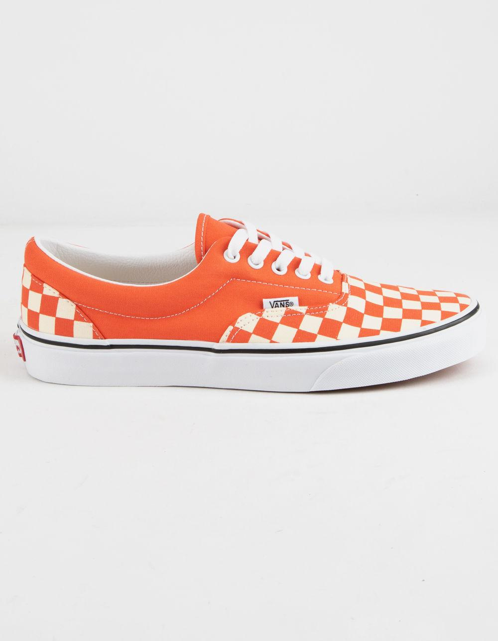 6741fad9a4 Lyst - Vans Checkerboard Era Emberglow Mens Shoes in Red for Men