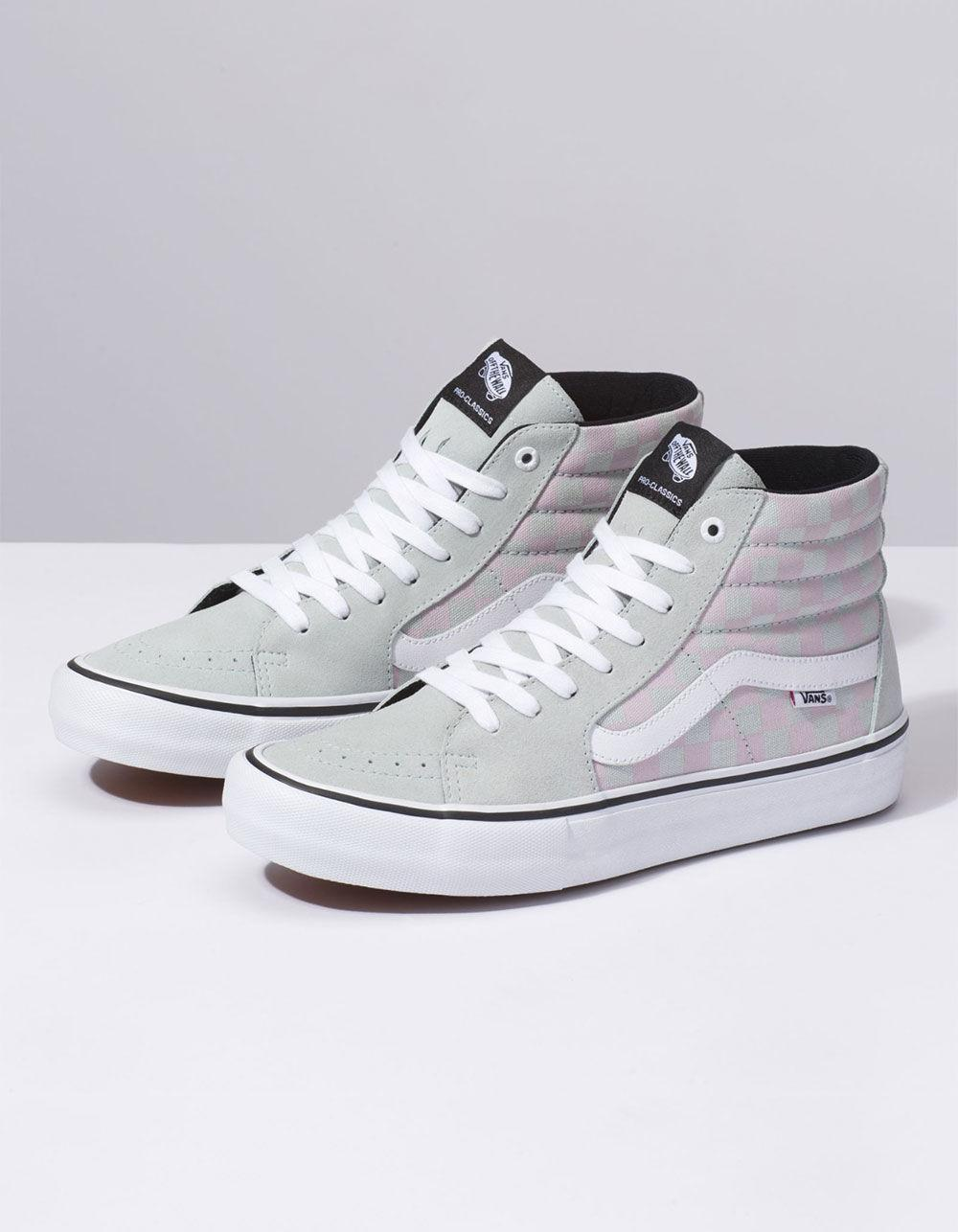 ff2aa06f4a9 Lyst - Vans Checkerboard Sk8-hi Pro Smoke   Violet Ice Shoes for Men