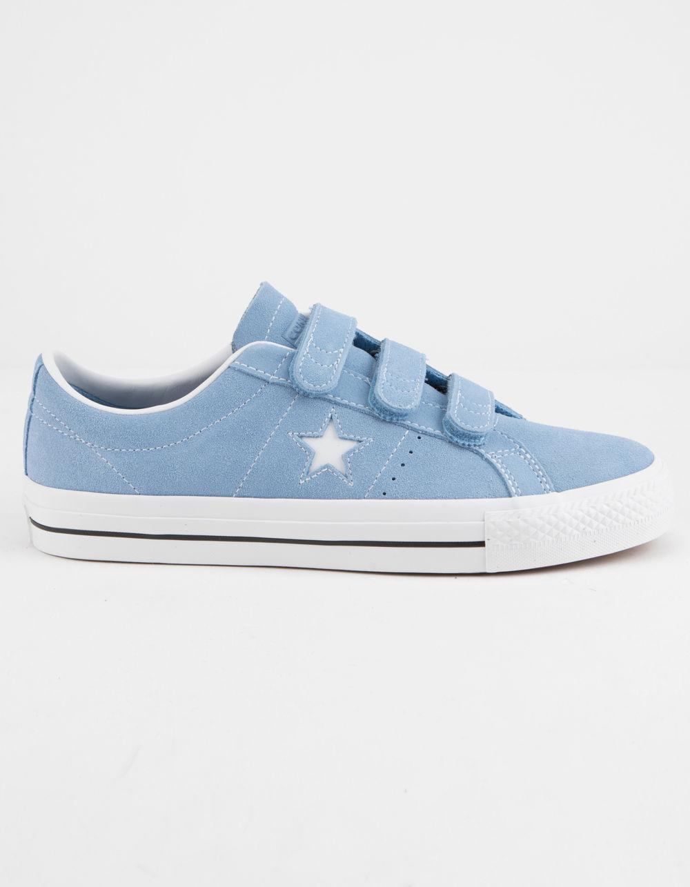 9c53fa913340a2 Lyst - Converse One Star Pro 3v Ox Light Blue   White Shoes in Blue ...