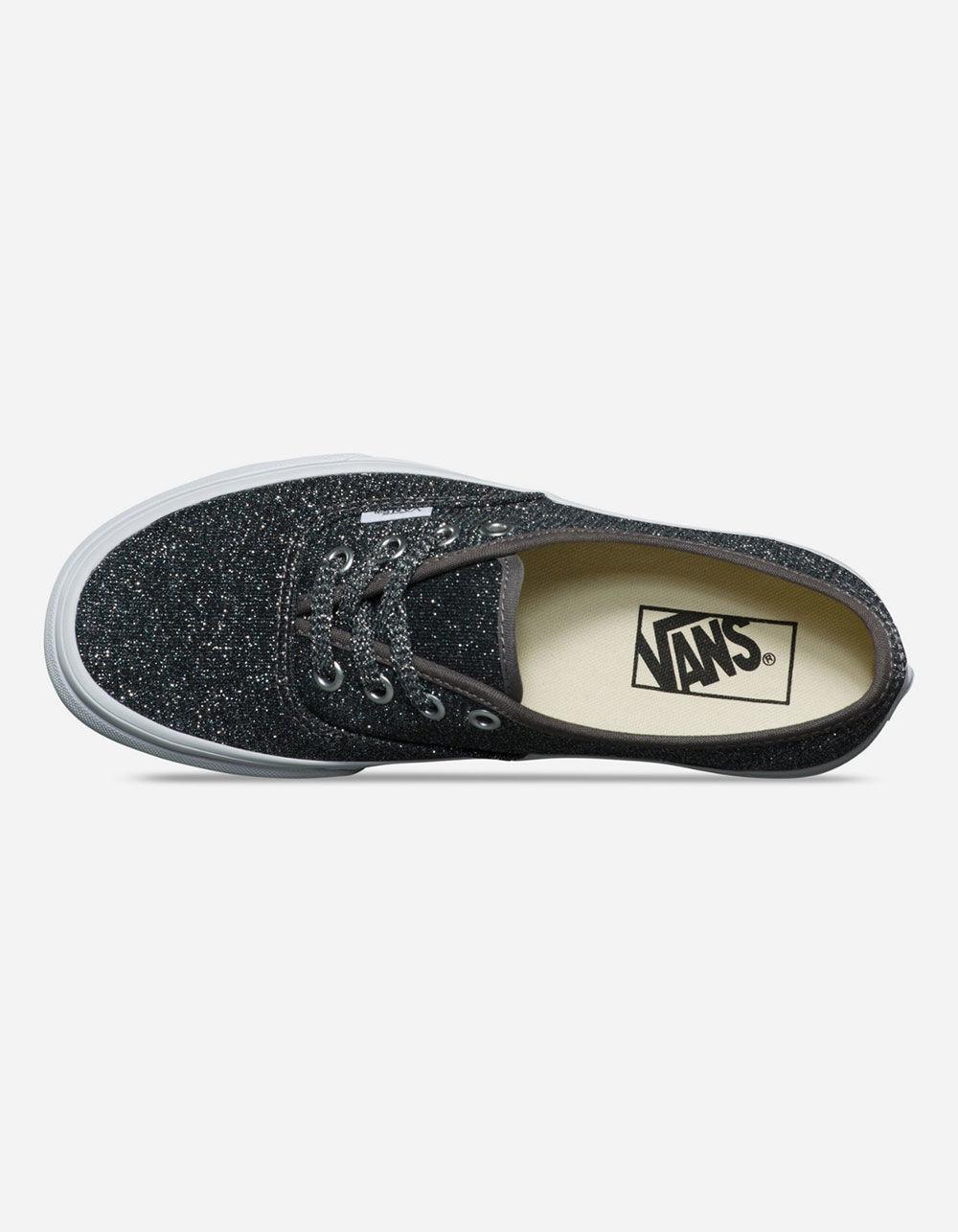 24081c4a811dc1 Vans - Lurex Glitter Authentic Black   True White Womens Shoes - Lyst. View  fullscreen