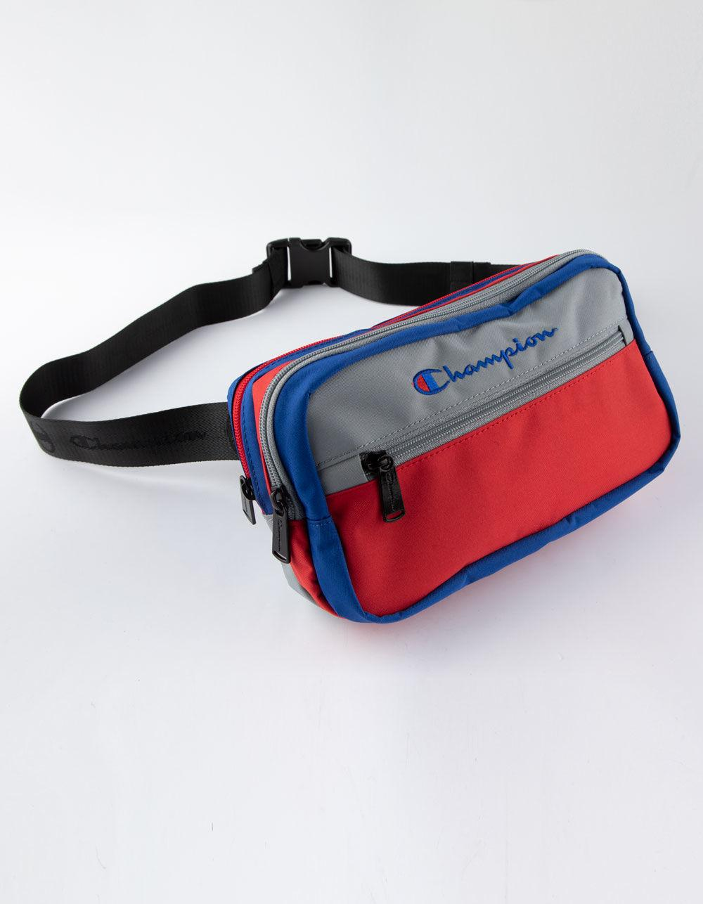 a9dffba4187c4e Lyst - Champion Color Block Gray   Red Fanny Pack for Men