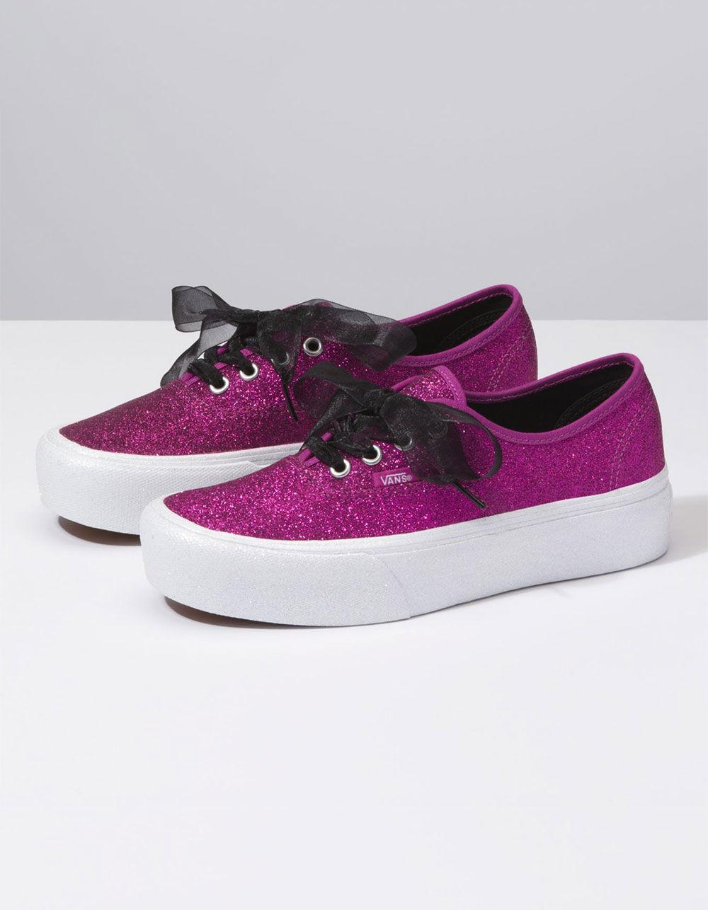 ebcc32b57e Womens Authentic Shoes Platform Vans Lyst In Pink Glitter 7A4a8Hq