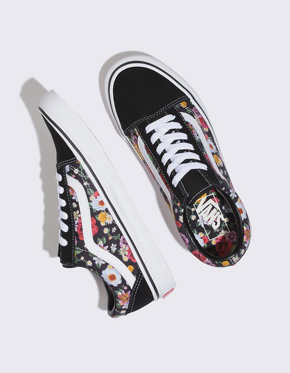 587b4dd3a21 Lyst - Vans Ua Old Skool Lux Floral Sneaker in Black - Save 63%