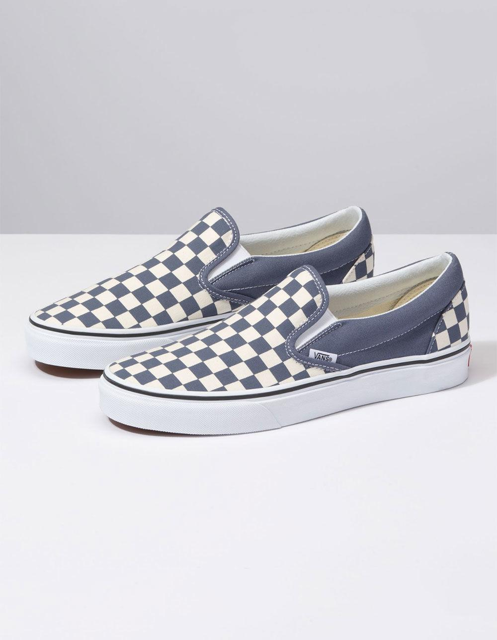 ac24fc639315 Lyst - Vans Checkerboard Grisaille   True White Classic Slip-on Shoes in  White for Men