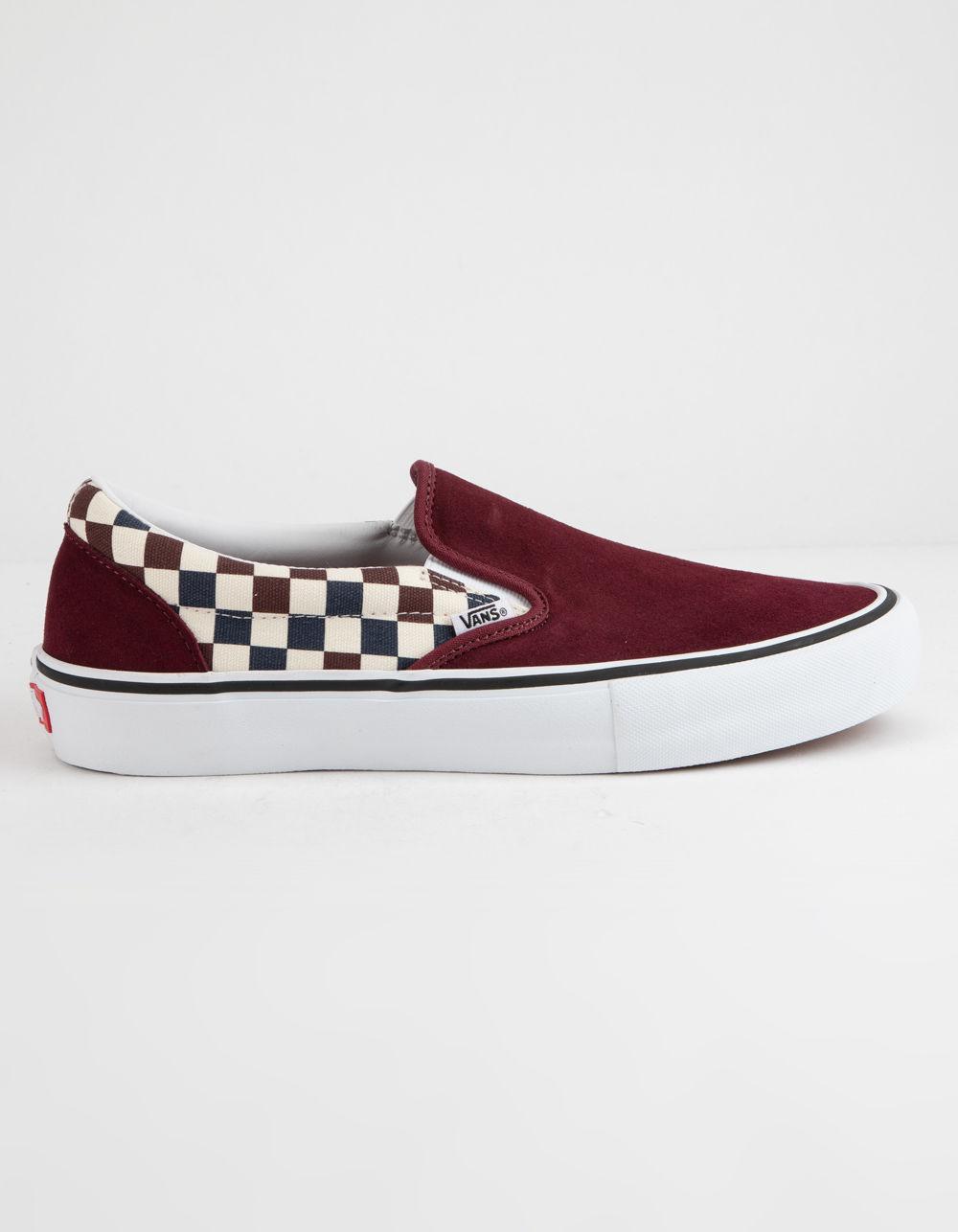 43026ccd52b8ef Vans - Red Checkerboard Slip-on Pro Port Royal Royal Shoes - Lyst. View  fullscreen