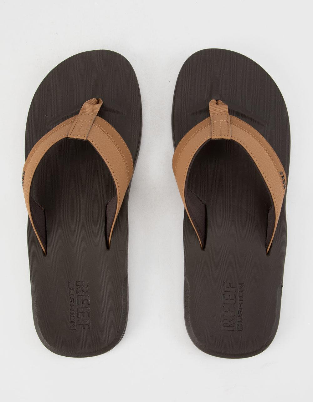 Lyst Reef Contoured Cushion Mens Sandals In Brown For Men