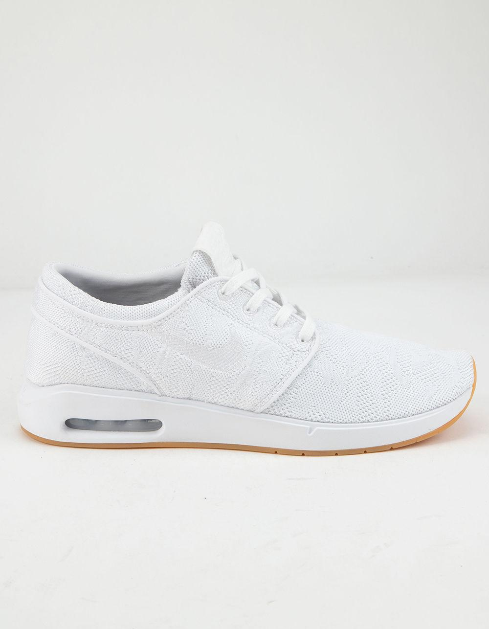 8af128e954 Nike Air Max Stefan Janoski 2 White & White-gum Yellow Shoes in ...