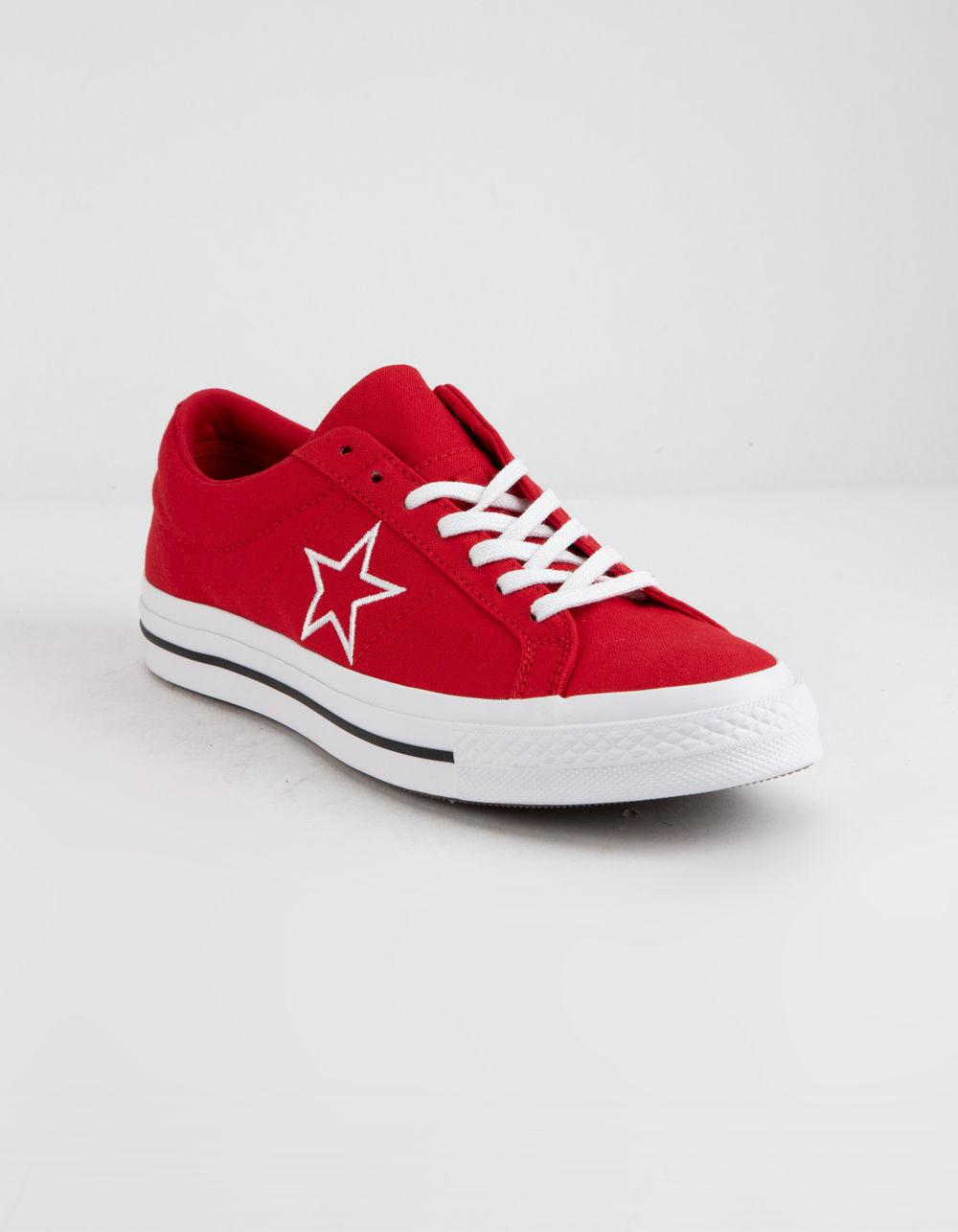 58272217ad3 Lyst - Converse One Star Ox Enamel Red   White Low Top Shoes in Red