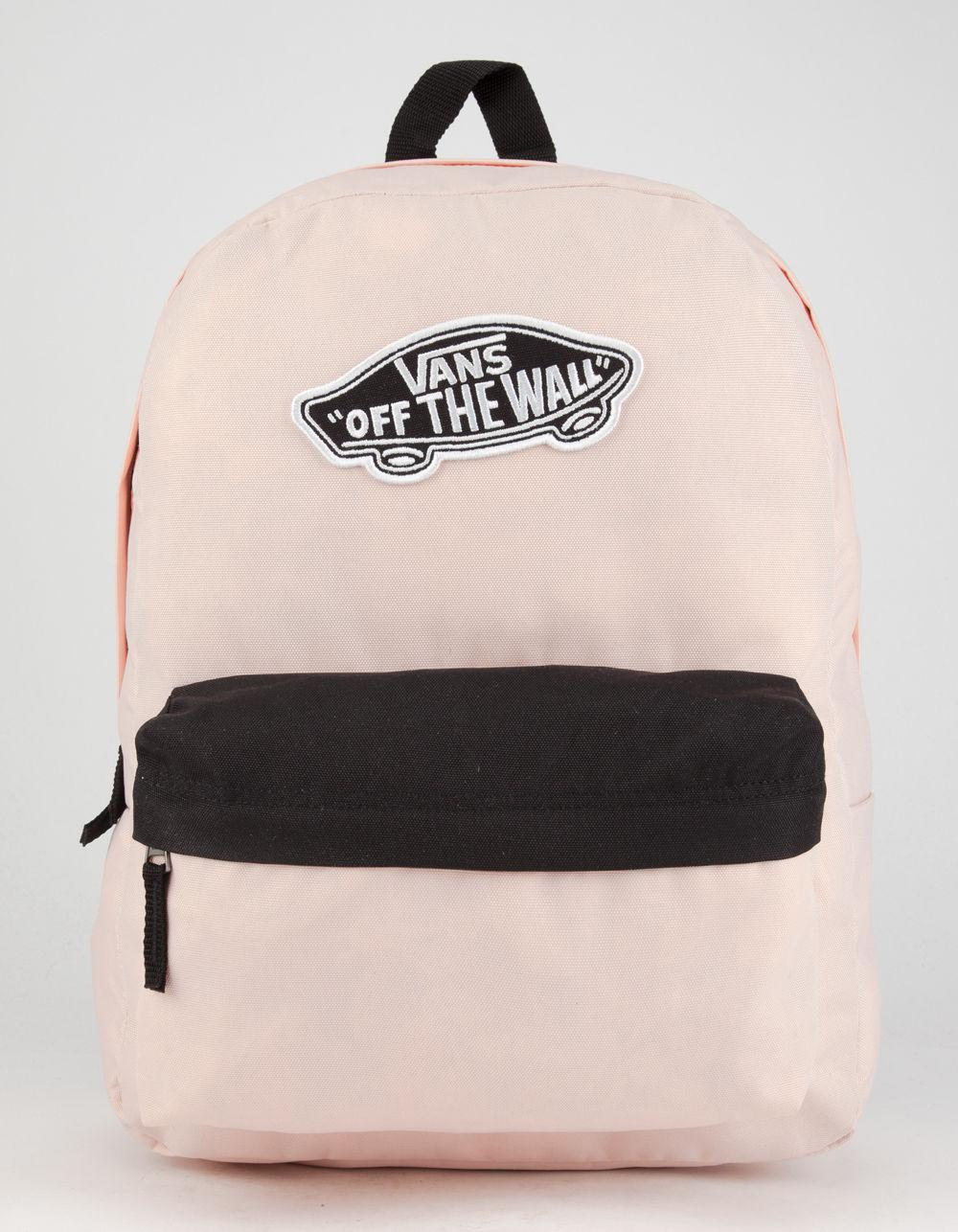 60b4b496527 Lyst - Vans Realm Backpack in Pink