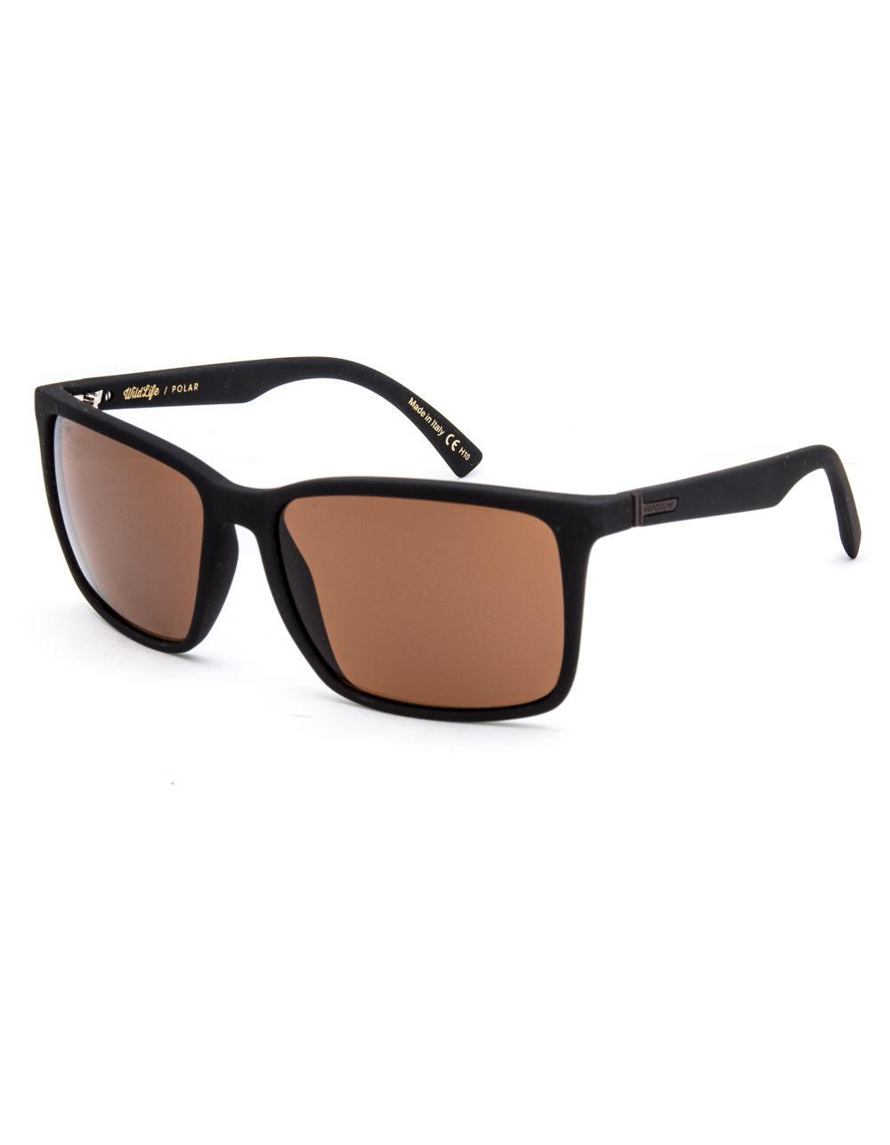 86eed4fb6c8 Von Zipper. Men s Lesmore Wildlife Black Soft Satin   Bronze Polarized  Sunglasses