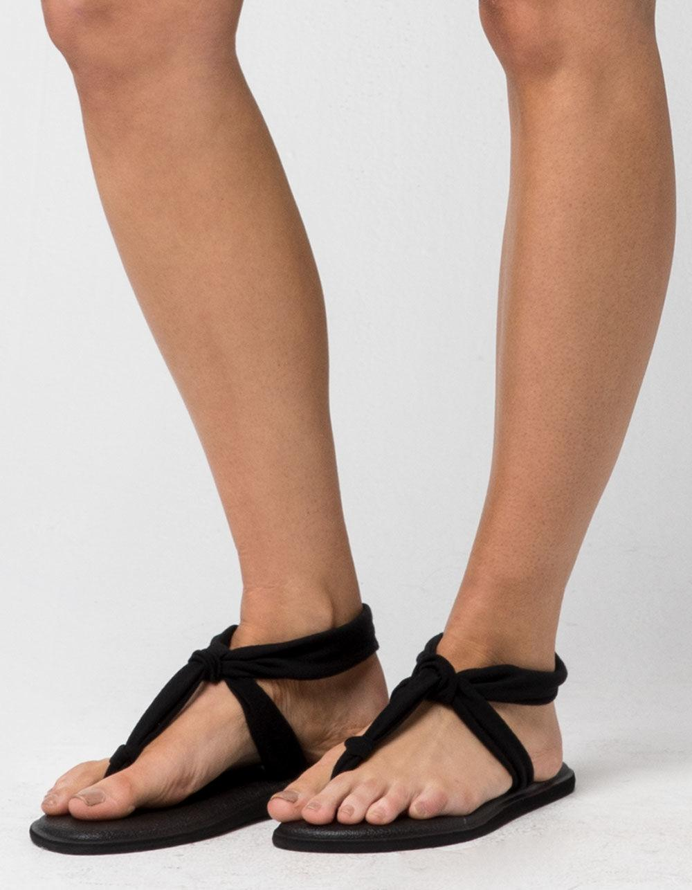 84fd8720f2641 Lyst - Sanuk Yoga Sling Ella Womens Sandals in Black